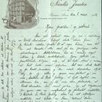Pastor Løkens brevsamling - brev datert 8. mars 1912 - side 1
