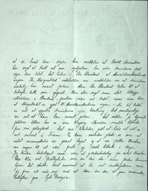 Pastor Løkens brevsamling - brev datert 8. mars 1912 - side 2