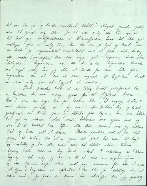 Pastor Løkens brevsamling - brev datert 14. mai 1913 - side 2