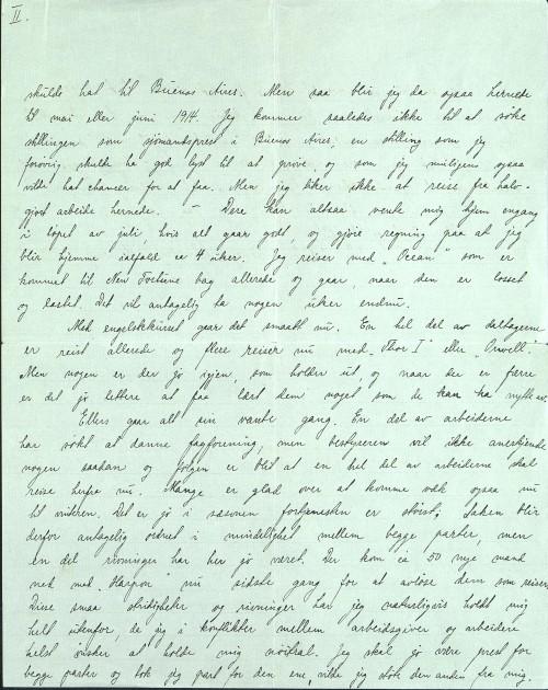 Pastor Løkens brevsamling - brev datert 14. mai 1913 - side 3