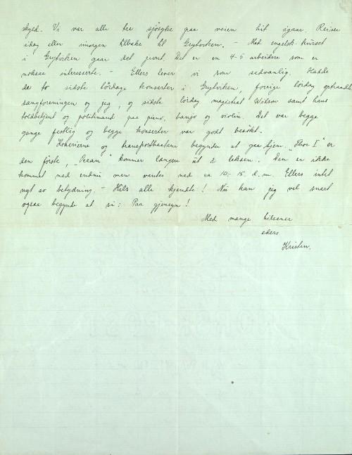 Pastor Løkens brevsamling - brev datert 5. mai 1914 - side 2