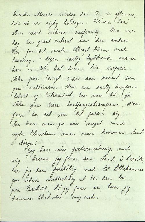 Pastor Løkens brevsamling - brev datert 8. juli 1914 - side 2