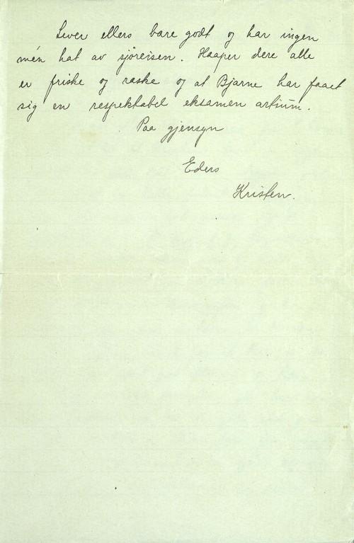 Pastor Løkens brevsamling - brev datert 8. juli 1914 - side 3