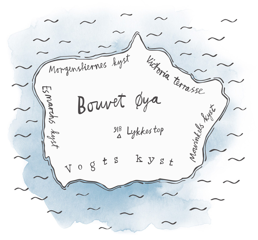 Bouvet-øya, kart