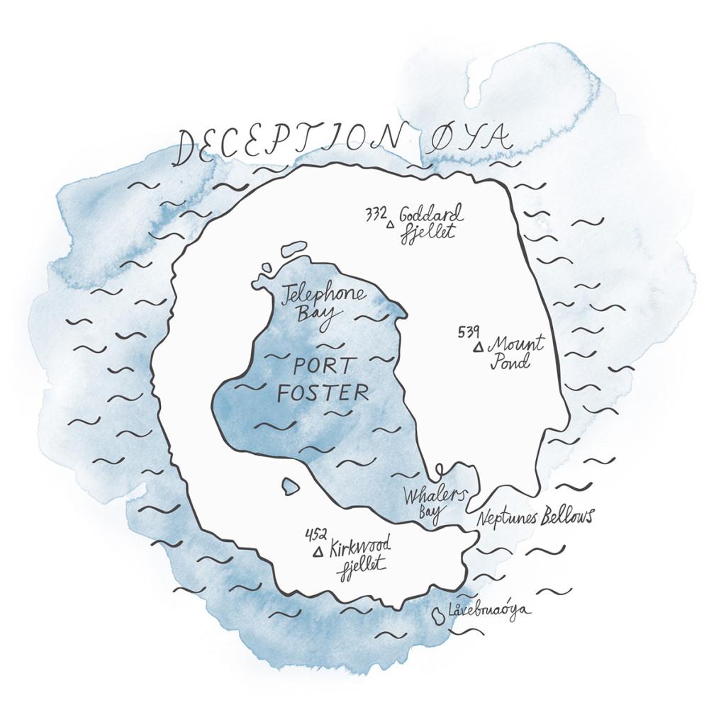 Deception Øya, kart