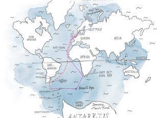 DS Norvegias reiserute