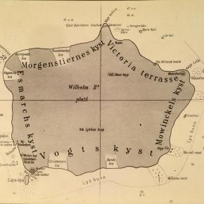 Kart over Bouvetøya Fra Norvegiaekspedisjonen til Bouvetøya 1927