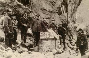 Fra Norvegiaekspedisjonen til Bouvetøya 1927. Hvalfangstmuseets fotoarkiv