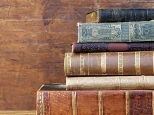 Boksamling på Sandefjord bibliotek