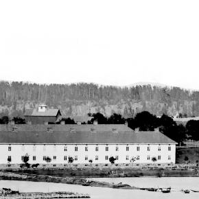 A-2876 arbeiderboliger i Nedre Langgate i Tønsberg ca 1870